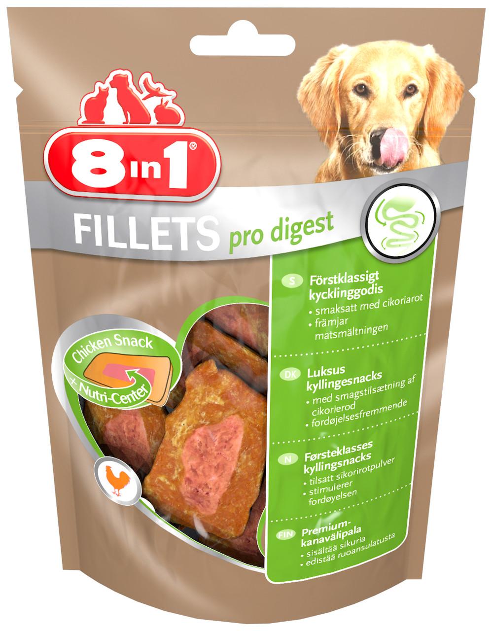 Лакомство 8in1 для собак Куриное филе для улучшения пищеварения 80 г