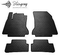 Резиновые коврики Stingray Стингрей Mercedes-Benz W246 В 2011- Комплект из 4-х ковриков Черный в салон