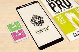 Защитное закаленное стекло Full Glue для Xiaomi Redmi 5 Plus клей по всей поверхности (Black)
