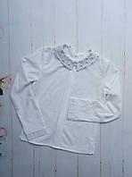 Блузка школьнаяподростковая для девочки от 8до 12 лет, белогоцвета