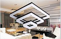 Люстра подвес квадраты 8003/3 (80см)  (белая)(черная)