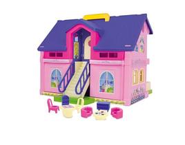 Двухэтажный кукольный домик
