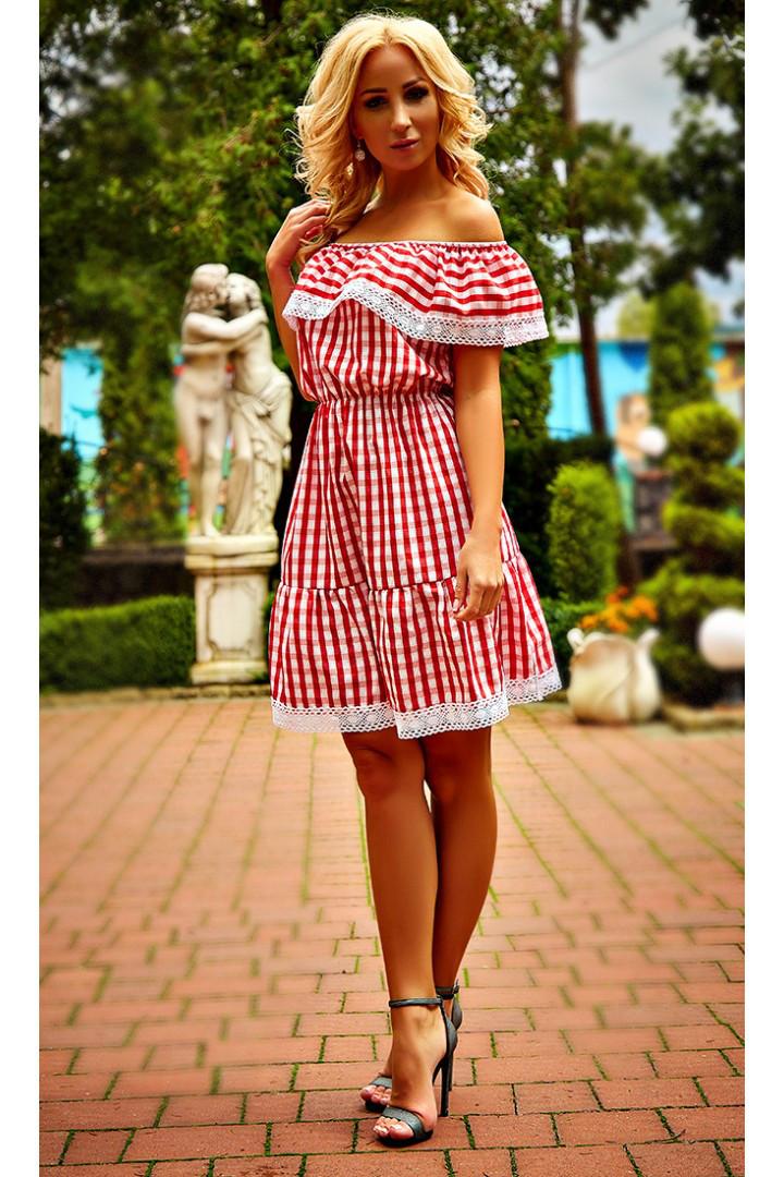 b148a0c087493 Молодежное свободное платье с принтом клетка: продажа, цена в ...
