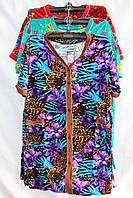 Женский велюровый халат на пуговицах оптом в Одессе.