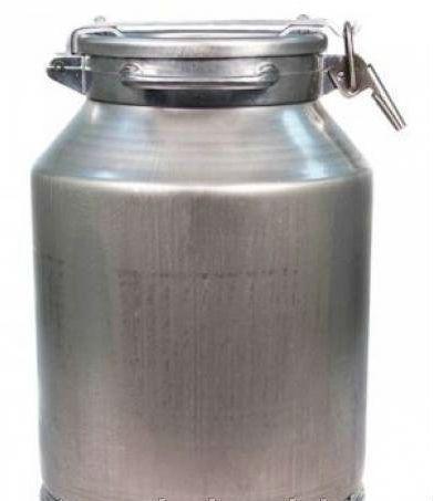 Бидон молочный алюминиевый [с прижимной крышкой 20л]