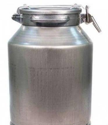Бидон молочный алюминиевый [с прижимной крышкой 20л], фото 2