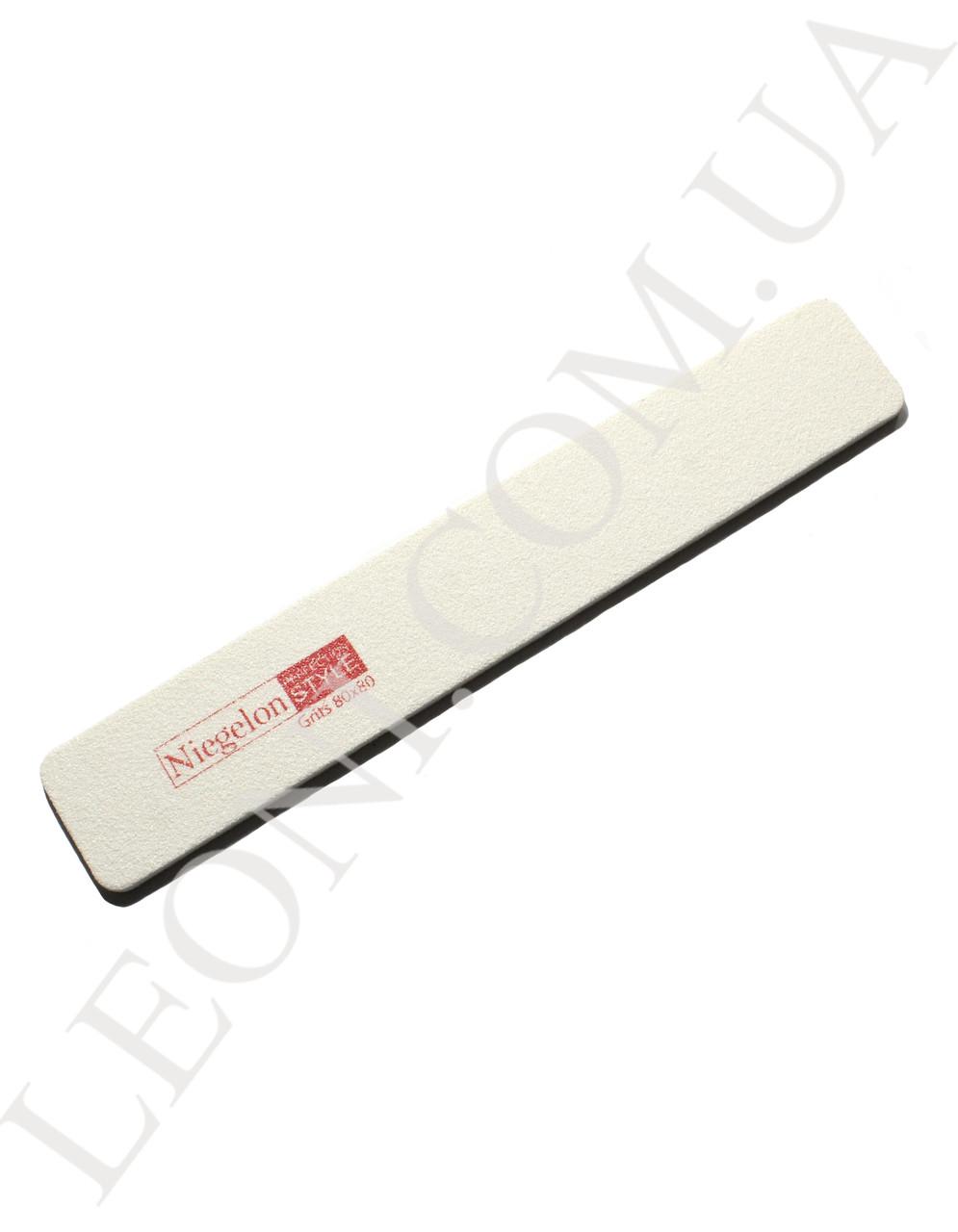 Мягкая пилочка для ногтей Niegelon 80/80 прямоугольная белая