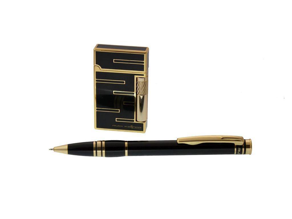 Ручка Rudi Kellner синій РШ+ запальничка Identity