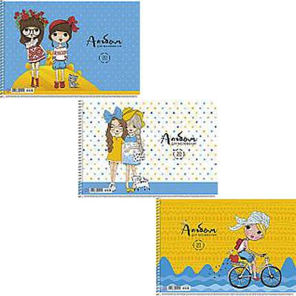 Альбом для малювання Star PB-SC-020-130 20ар А4 спіраль з перфорацією виб УФ лак карт/обкл, фото 2