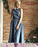 Платье из софта макси с поясом высокая талия, фото 2