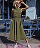Платье из софта макси с поясом высокая талия, фото 4