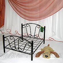 Лежак для домашних животных кованый черный