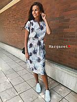 Платье с поясом летнее легкое супер-софт, фото 3