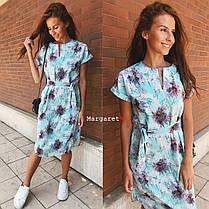 Платье с поясом летнее легкое супер-софт, фото 2