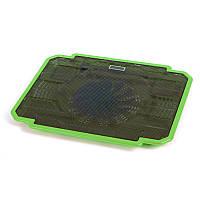 Подставка охлаждающая Omega для ноутбука 9-17 дюймов ice box (41905) зеленый