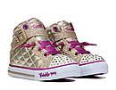 Светящиеся кеды Хайтопы  Skechers Скетчерс Twinkle toes Оригинал (Размер 22см), фото 5