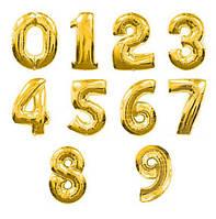 Фольгированные цифры (золото)
