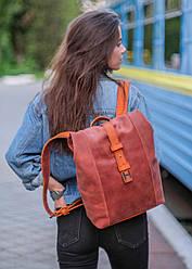 Женский рюкзак HANKLE |13020| Коньяк + Янтарь