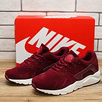 Кроссовки мужские Nike Huarache 10911 найк хуарачи бордовые Реплика