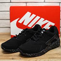 Кроссовки мужские Nike Huarache 10951 найк хуарачи черные Реплика