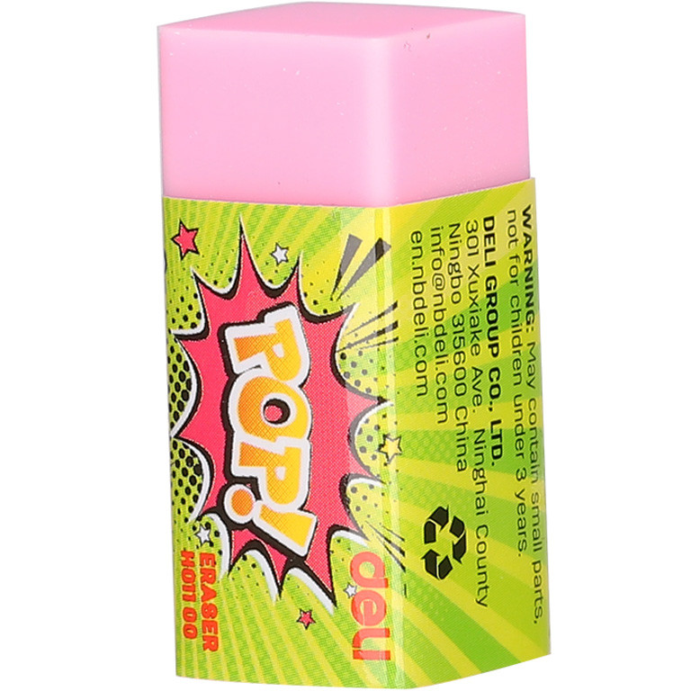 Ластик Deli EH01100 микс прямоуг POP 35х15х15мм синтетич цветной