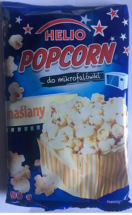 HELIO попкорн в микроволновой печи 90 гр (масло), фото 2