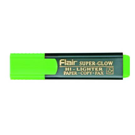 """Маркер текстовый Flair 850 зеленый 1-5мм """"Superglow Hi-lighter""""зеленый блист/пак, фото 2"""