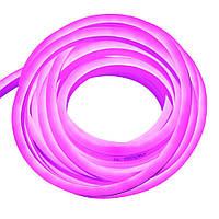 Гибкий неон 220В 2835 (120LED/м) IP67 розовый