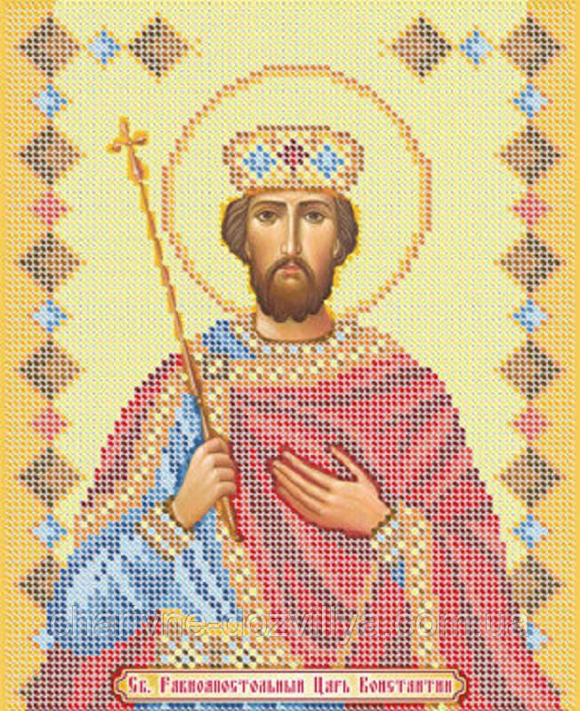 """Схема для вышивки бисером именная икона """"Святой Константин"""""""