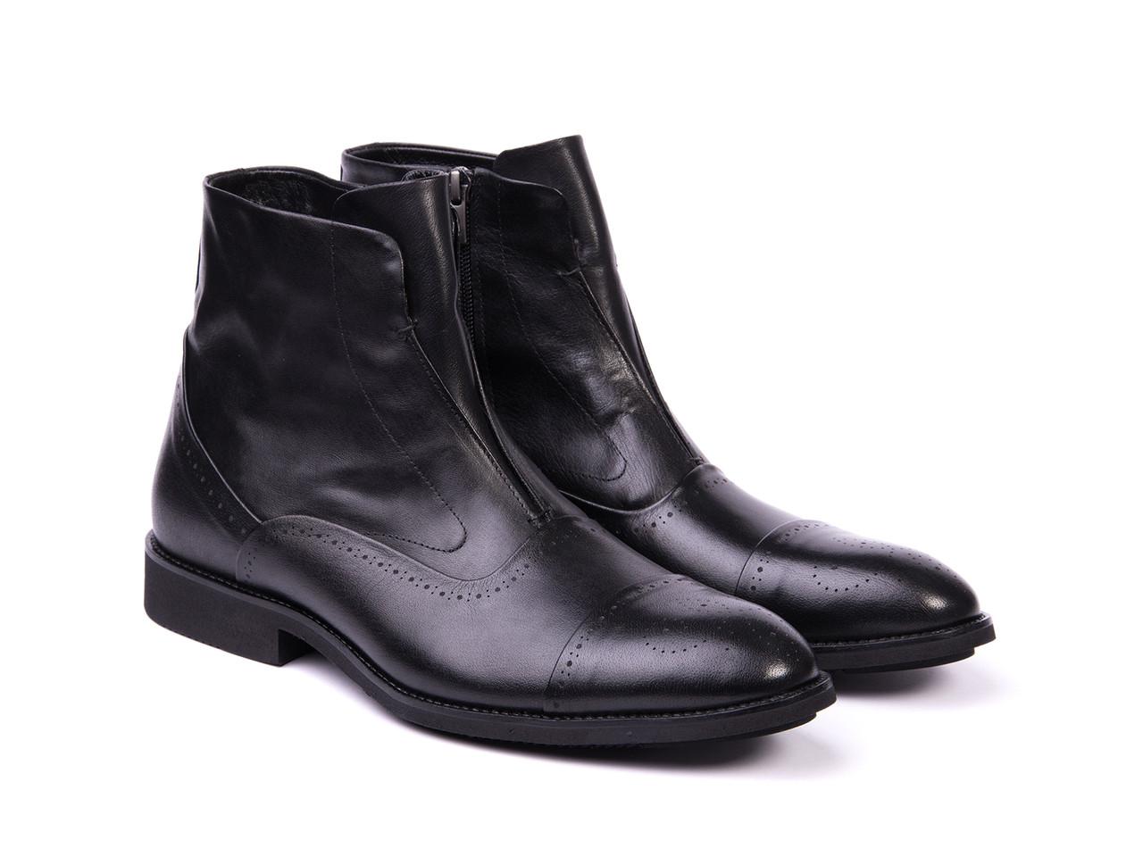 Ботинки  Etor 12096-7305-02 черные