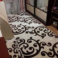 Рельефный ковер Meral 6733 кремовый