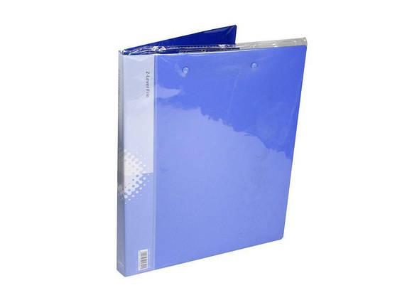 Папка с зажимом Deli 5342 микс А4 18мм 2зажима бок+верх Standard (0,95мкм), фото 2