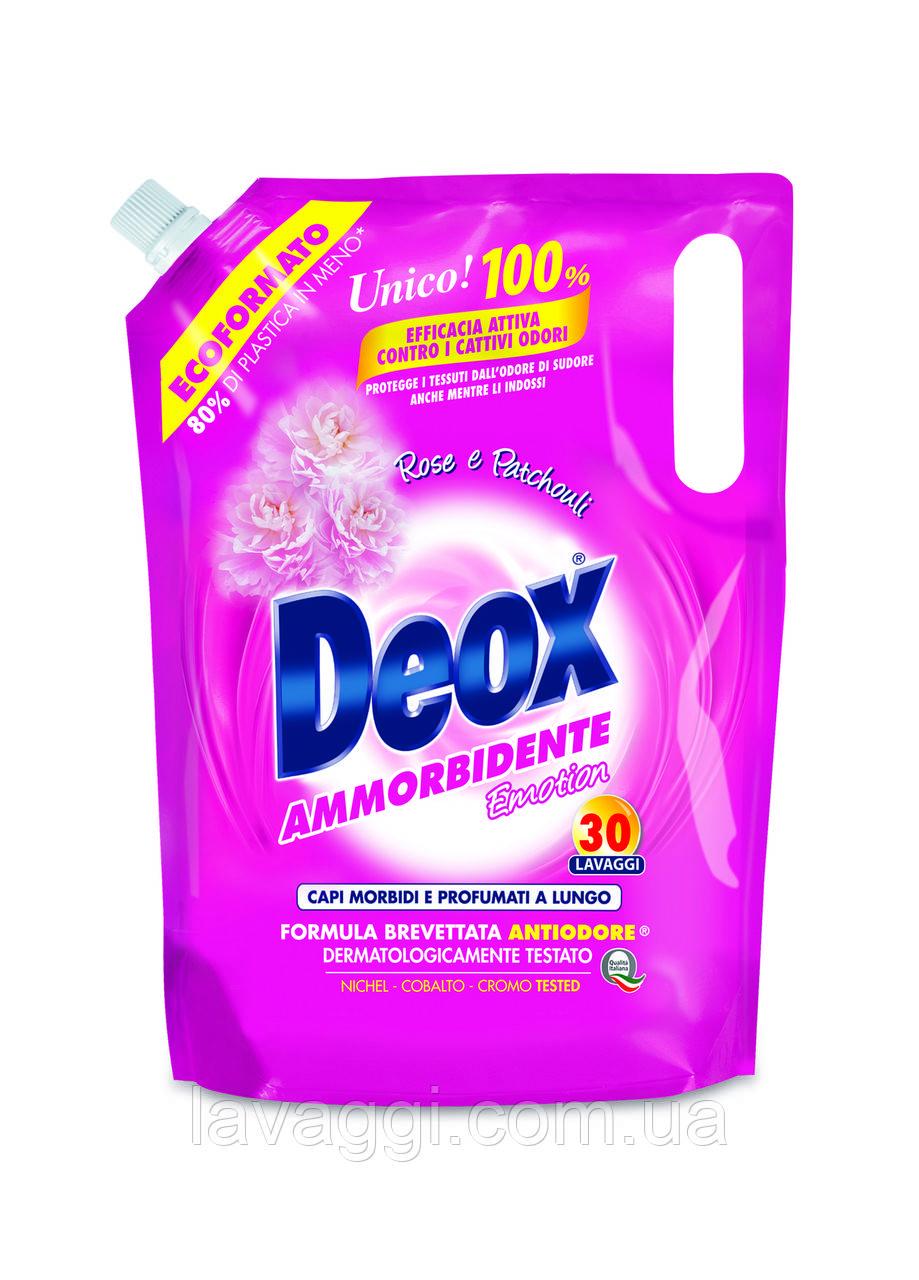 Кондиционер-ополаскиватель для белья Deox Ammorbidente Rose Ecoformato1500 ml