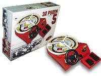 Развивающая, увлекательная детская  настольная игра «за рулем-5» с ножной  педалью газ-тормоз