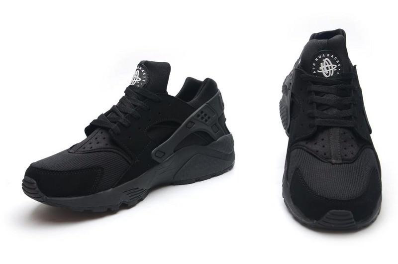 Кроссовки Nike Air Huarache Black Черные мужские