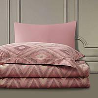 Бамбуковое постельное белье семейное Arya Majestik Barton розовое