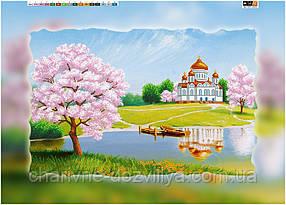 """Схема для вышивки бисером на подрамнике (холст) """"Благодатная весна"""""""