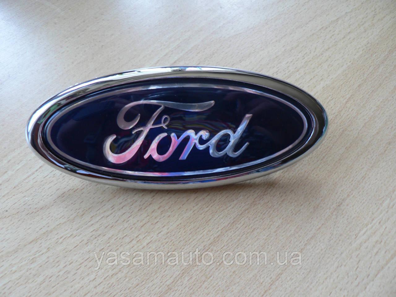 Эмблема z Ford 146х58.4х9.5мм пластиковая Connect наклейка на авто Форд Коннект посадка скотч и 3 штыря задняя