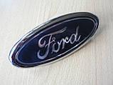 Эмблема z Ford 146х58.4х9.5мм пластиковая Connect наклейка на авто Форд Коннект посадка скотч и 3 штыря задняя, фото 5