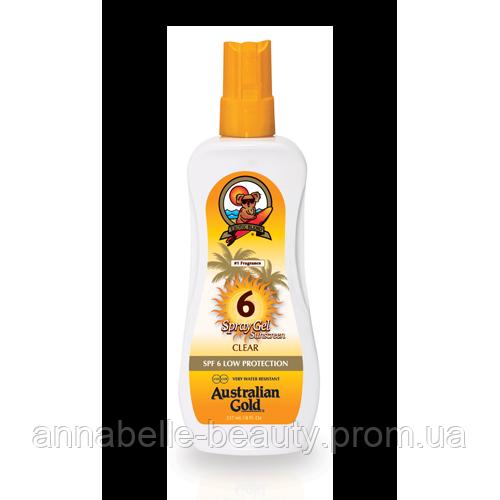 Australian Gold SPF 6 Spray gel - Спрей гель с фактором защиты 6 237 мл
