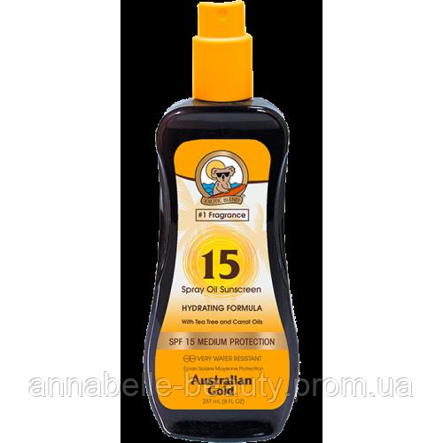 Australian Gold SPF 15 Spray Oil - Масло для загара на солнце c фактором защиты 15 237 мл