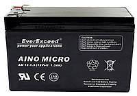 Аккумулятор 1.3 Ач EverExceed AM 12-1.3