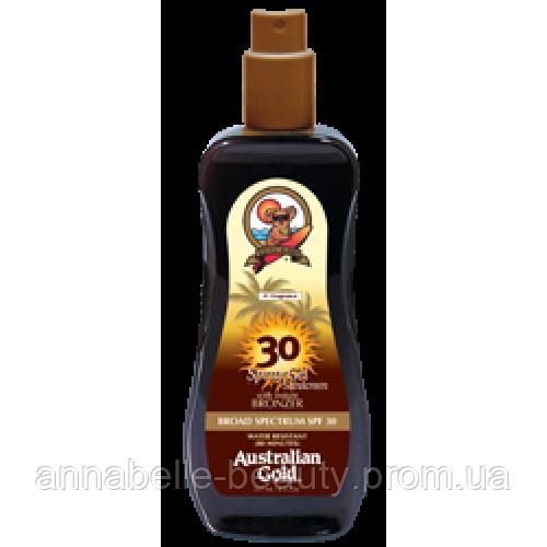 Australian Gold SPF 30 Spray Gel Bronzer Спрей-гель с бронзантами фактор защиты 30  237 мл