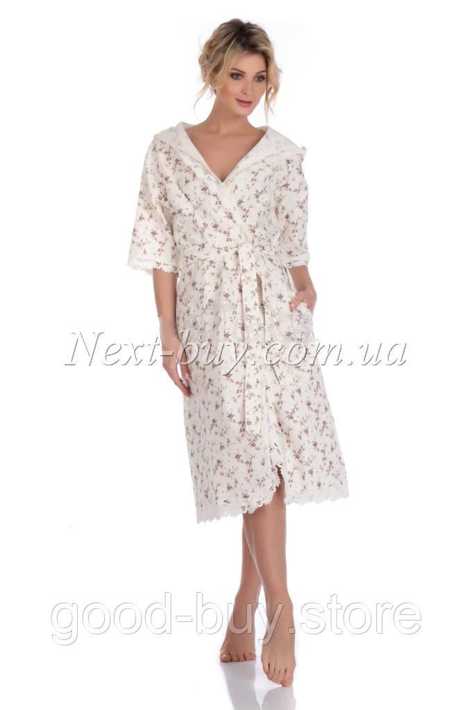6eb3853cacd9d Maison D`or ROSES ESTEE вафельный халат c капюшоном - купить и ...