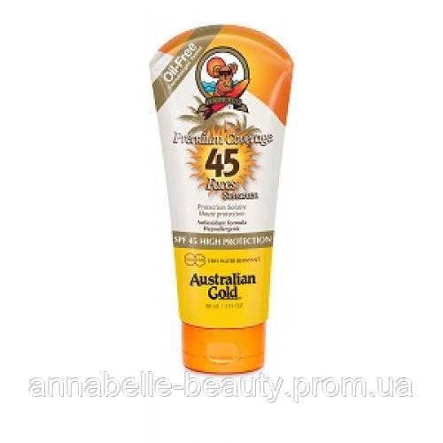 Australian Gold SPF 45 Premium Coverrage Faces - Солнцезащитный крем для лица, шеи, декольте  88 мл