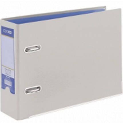 Регистратор А5 Economix 30725-10 серый А5 80мм Банк ламин 1стр покр.РVC, мет.након, фото 2