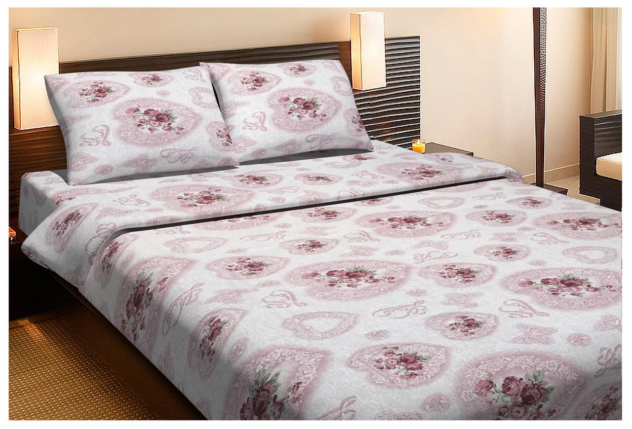 Постельное белье Lotus Ranforce - Patsy розовый двухспальное