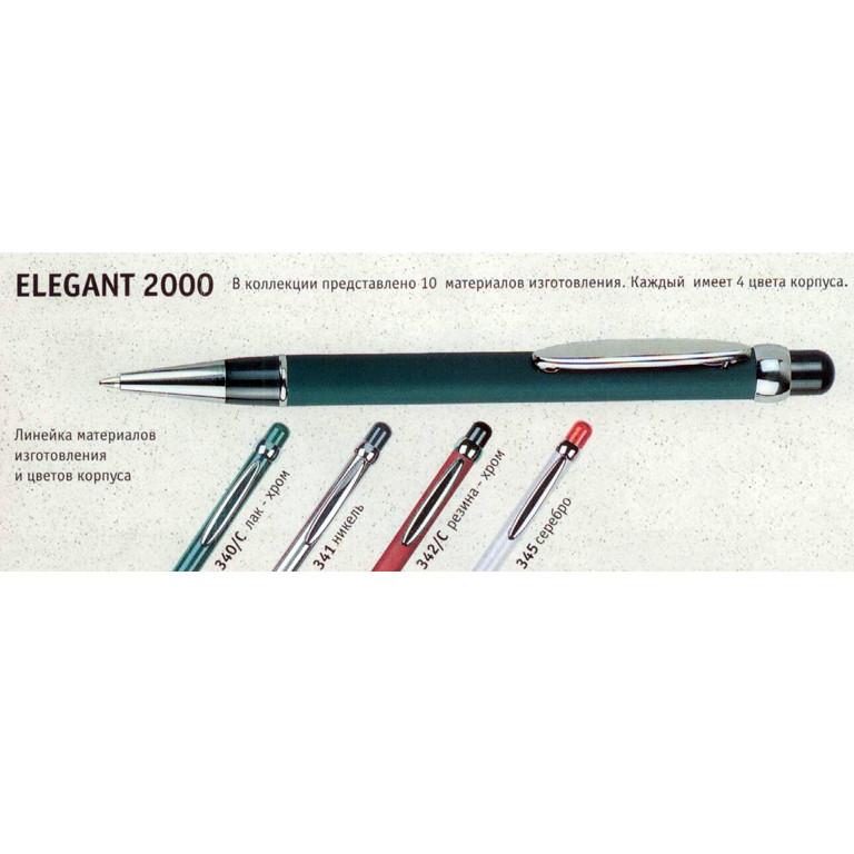 Ручка шариковая Dema 345/С-BL синий Elegant 2000 серебро синяя