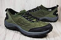Merrell(мэрэл) мужские кроссовки на мембране хаки, фото 1