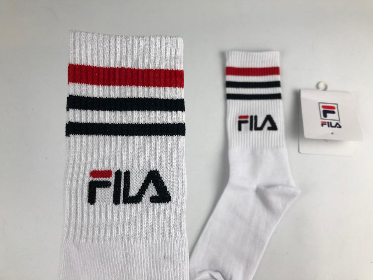 Носки Fila высокие белые, цена 89 грн., купить в Запорожье — Prom.ua ... 8522dc074e6